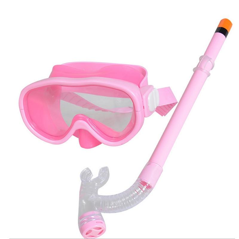 High Fashion Children Swimming Glasses With Snorkel Underwater Sports Boys Girls Kids Diving Glass Breathing Tube Set DOG88