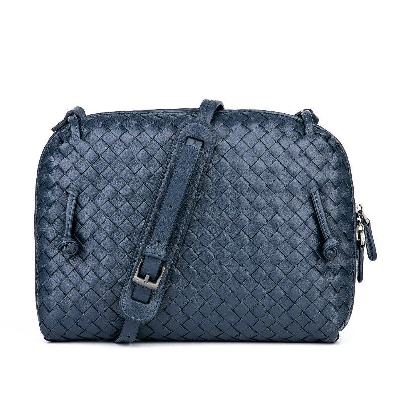 Luxury Brand Designer Women Shoulder Bag Sheepskin Handmade Woven Crossbody Bags Lady Messenger Bag Top Quality Lambskin Purse