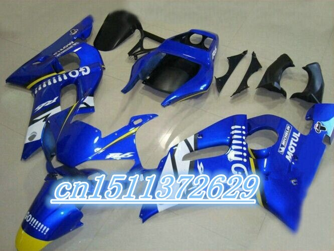 ABS fairings YZF R6 600 98 99 00 01 02 الهدايا المجمعة YZF R6 1998-2002 1998 1999 2000 2001 2002 ل الأزرق الأبيض D