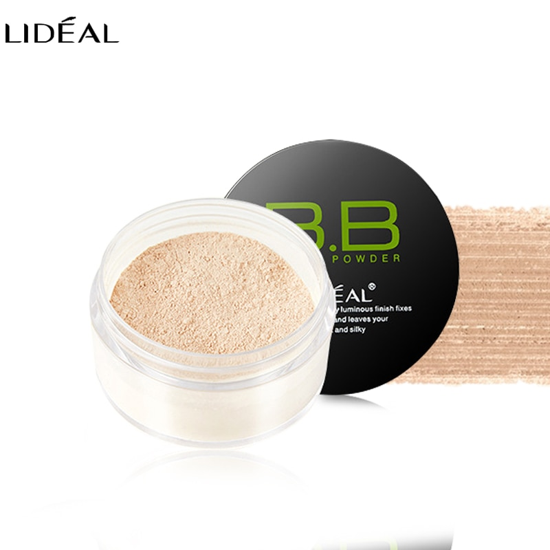 LIDEAL Brand cosméticos de polvo de acabado blanqueador facial para mujeres Control de aceite de larga duración transparente para polvo de maquillaje Suelto