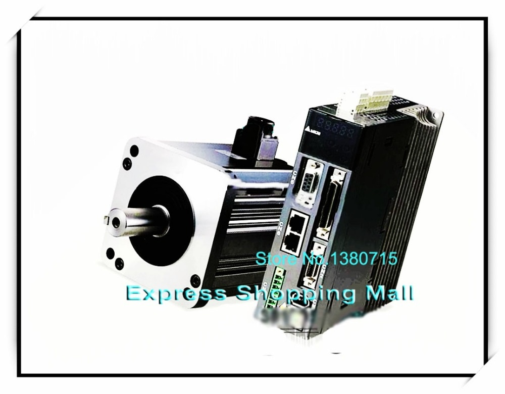 ASD-B2-0121-B + ECMA-C20401GS 40MM 220V 100W 0.32NM 3000rpm 17Bit sello de aceite AC Servo Motor y Drive Kit & Cable