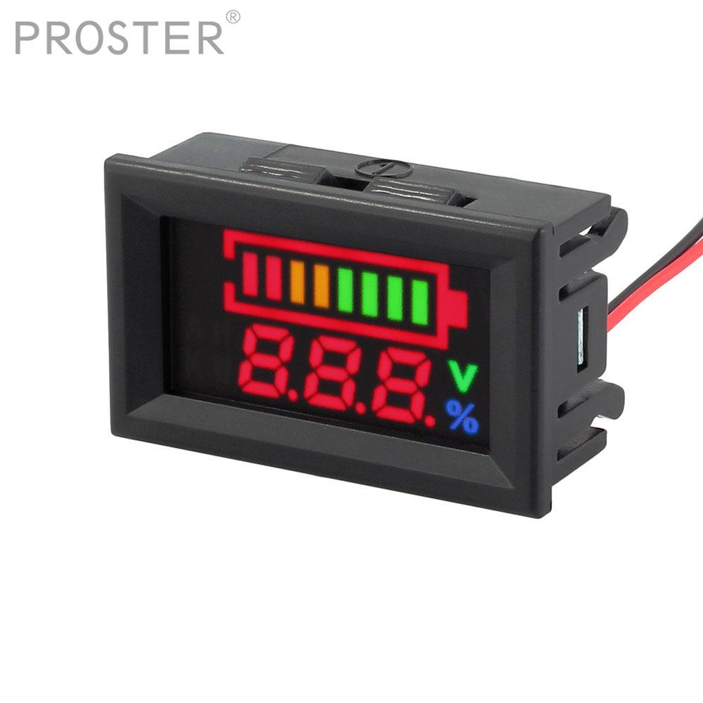 بروستر ل 12 فولت بطارية من الرصاص مؤشر قدرة البطارية LED تستر الفولتميتر تهمة مؤشر مستوى الرصاص رصد