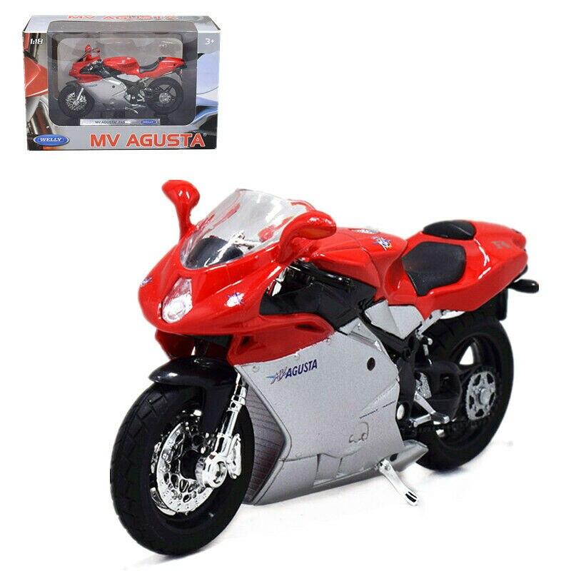 Welly 118 mv agusta f4s motocicleta moto modelo de brinquedo novo na caixa