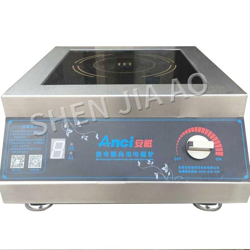 AC-5KW-1 سطح المكتب مستو طباخ التعريفي طباخ التعريفي التجارية 5000W فندق شقة عالية الطاقة طباخ التعريفي 220v