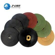 "Z-LION 8pcs/Set 5"" Diamond Polishing Pad 5/8-11 Polishing Wheel Set 125mm Power Tool Stone Granite Marble Concrete Flexible pad"