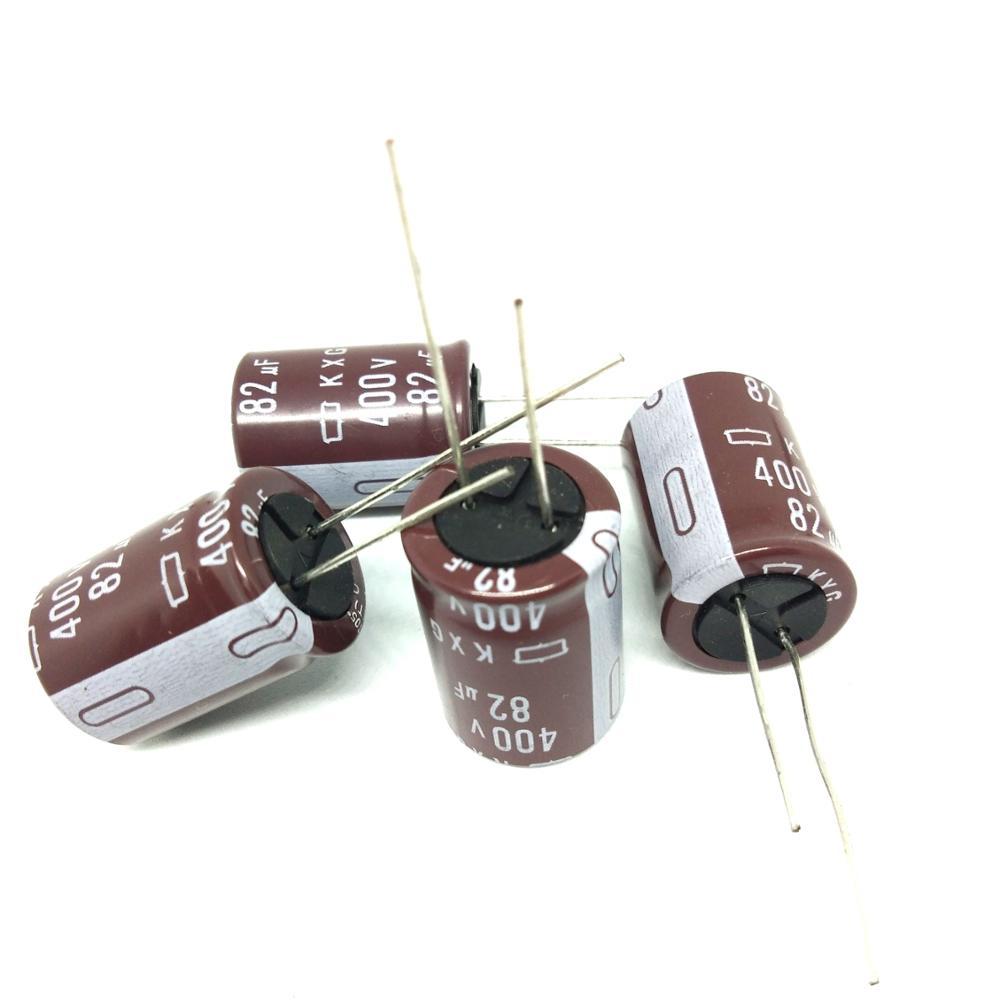 100% original false a compensate ten electrolytic capacitor 400v 82uf 82uf 400v 18 * 26MM KXG series (10 PCS) package of mail...