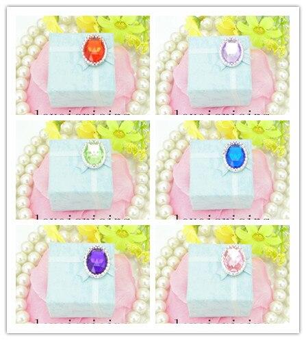 12 colores -- 100 Uds. Cuentas acrílicas ovaladas para novias, damas de honor, flores de muñeca, ramillete de flores para boda, suministros DIY