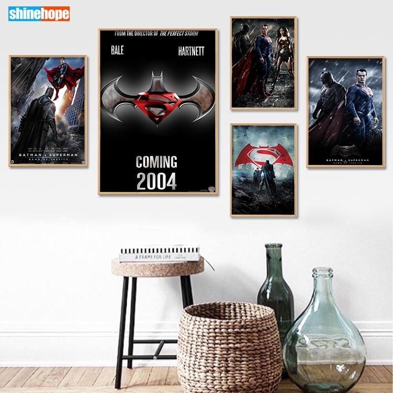 Custom Batman vs Superman Poster Canvas Poster 30X45cm,40X60cm Art Home Decoration Cloth Fabric Wall Poster Print Silk Fabric