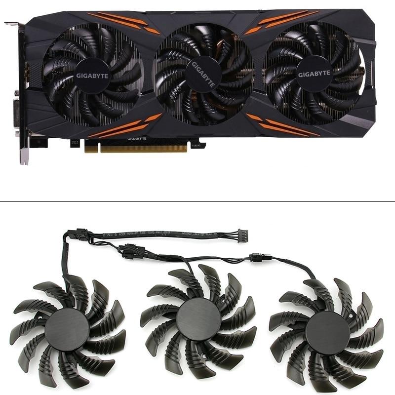 3pcs 75MM T128010SU Cooling Fans For Gigabyte AORUS GTX 1080 1070 Ti Gaming Fan GTX 1070Ti G1 Gaming GPU Video Card Cooler Fan
