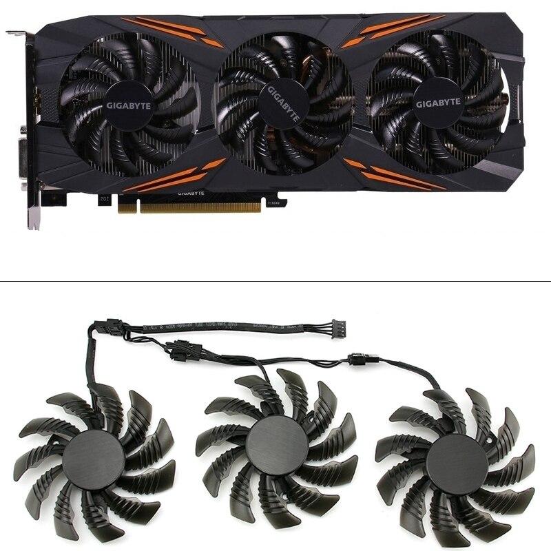 75mm t128010su ventiladores de refrigeração para gigabyte aorus gtx 1080 1070 ti g1 gaming fan gtx 1070ti g1 gaming gpu placa de vídeo ventilador mais frio