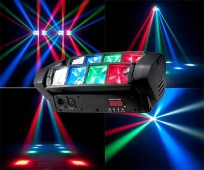 Светодиодный прожектор, с движущейся головкой, 8x10 Вт