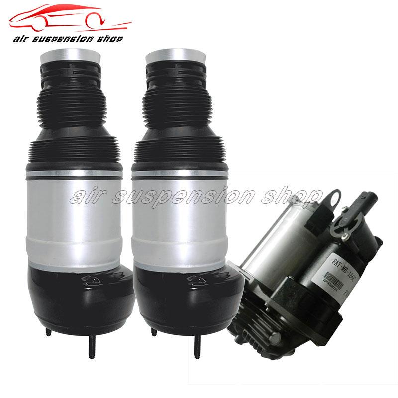 for Mercedes-Benz W166 GL-Class ML-Class Pair Front Air Spring Bag Air Suspension w/ Gas Shock Air Compressor Pump 1663201413