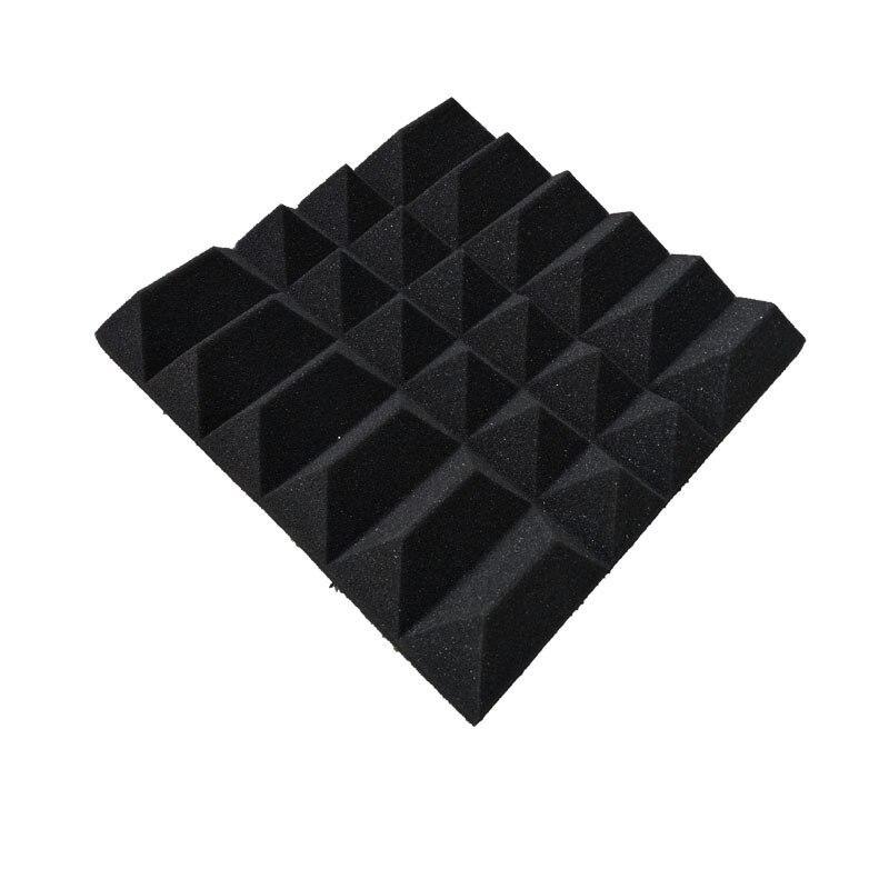 Модная акустическая Пирамида полиуретановая пена черного цвета огнеупорная студия губка 6 шт./лот