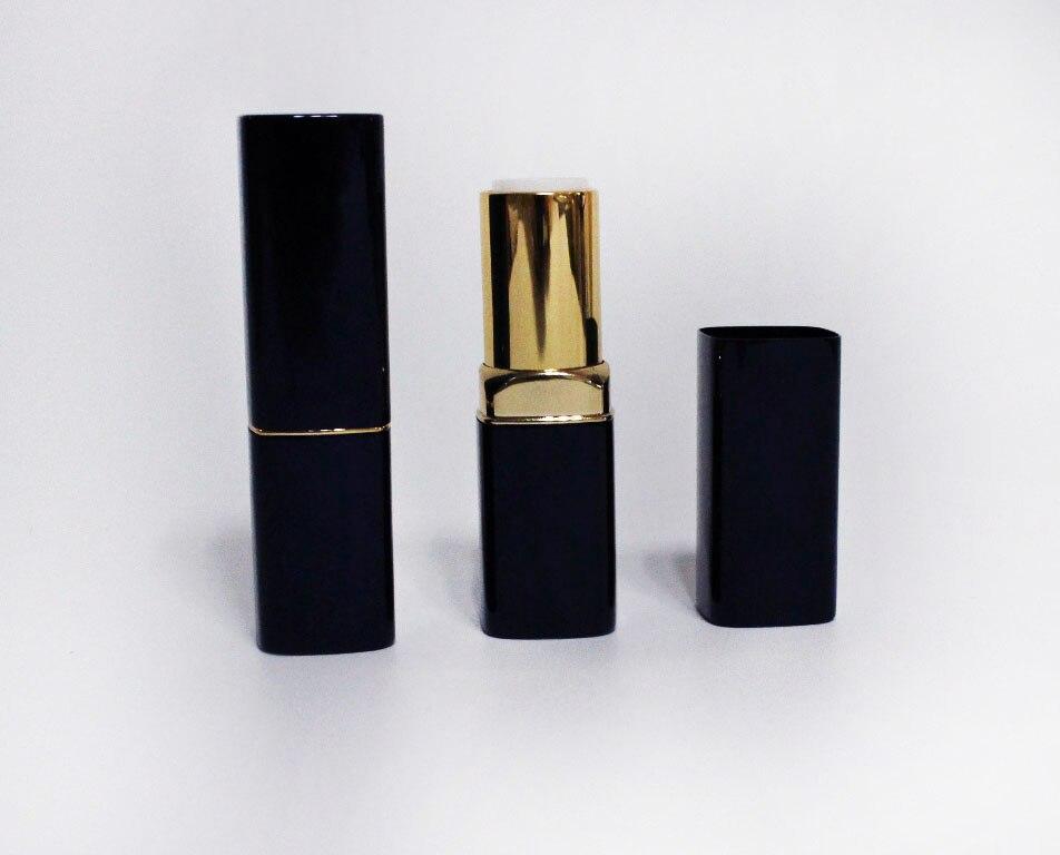 Tubo de lápiz labial de plástico de 100 uds, bube de lápiz labial de color azul zafiro y dorado, tubo de pintalabios DIY diámetro interior de la taza 12mm