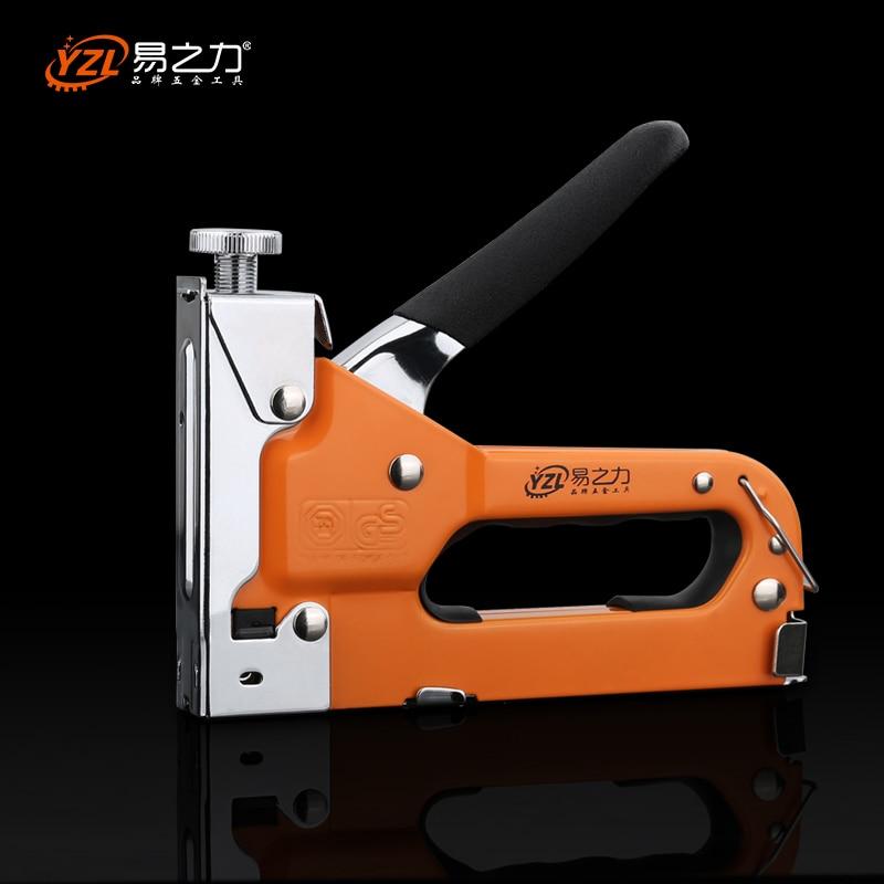Многоинструментальный гвоздь штапельного пистолета мебель степлер для деревянной двери обивка обрамление заклепки пистолет