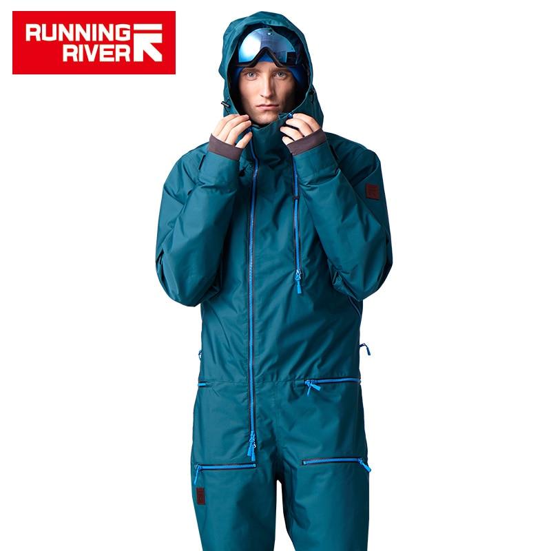 RUNNING RIVER Brand Waterproof jumpsuit For men Snowboarding Suit  men Snowboard Jacket Male Snowboard Set Clothing #B7096