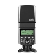Meke مايكه MK-420F lcd متعددة الوظائف بطارية ليثيوم طويلة الأمد فلاش speedlite ل كاميرا رقمية