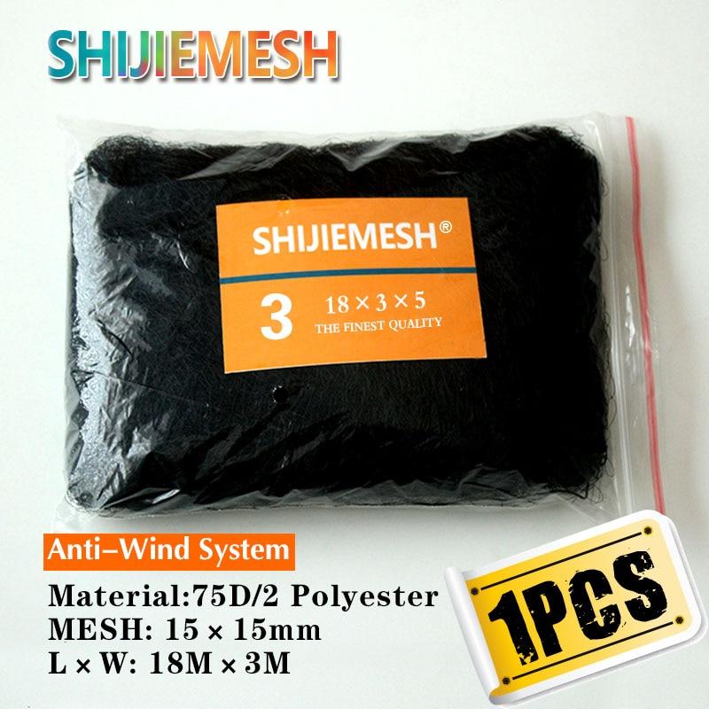 Haute Qualité 18M x 3M 15mm Chauve-Souris Attraper 75D/2 Polyester Anti Filet De Brume D\'oiseau 1 pièces