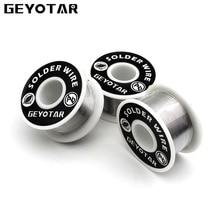GEYOTAR 1 Stks/set 1mm Nieuwe Soldeerbout Draad Reel 50g/3.5 oz Tin Lead Line FLUX 2.0% zilver Soldeer 55*29mm lassen