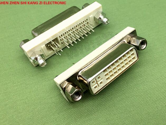 5 pcs shell DVI macho DVI24 + 5 pin soquete tipo fio de moldagem com folha de flandres/Conector de habitação pública