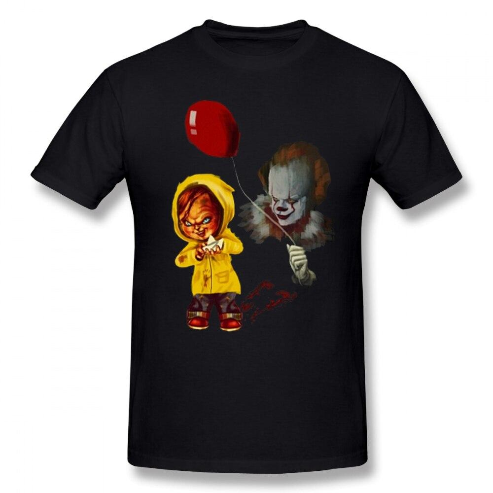 ¡El mejor regalo! Camiseta de hombre de Alloween Chucky The Clown, Hiphop, al azar, 4XL, 5XL, 5XL, ropa de hombre de manga corta de algodón
