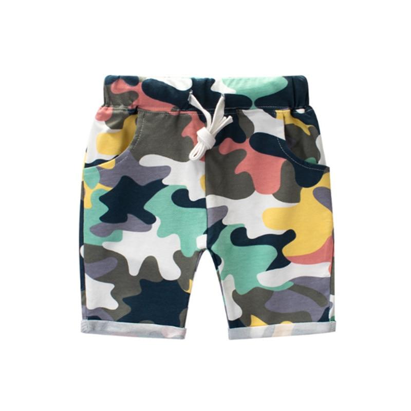 Шорты для мальчиков и девочек, летние хлопковые трикотажные штаны в стиле милитари, детские шорты, брюки, детская одежда, 2019