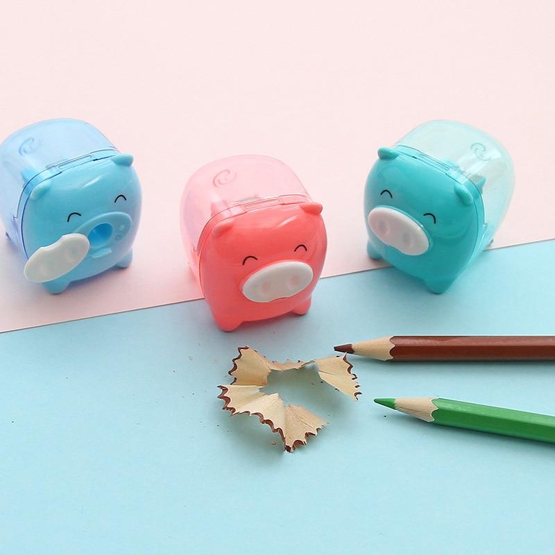 1 ud. Sacapuntas lindo Kawaii Animal cerdo color caramelo sacapuntas coreano útiles escolares para niños papelería al azar