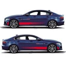 Wereld Datong Sport Strepen Car Stickers voor Jaguar XE SV R-Sport Exterieur Side Door Decal Car Auto Sticker