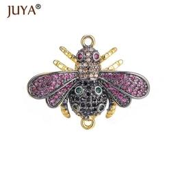 Роскошные Многоцветные кубические циркониевые насекомые-пчелы, подвески, коннекторы для самостоятельного изготовления ювелирных изделий, аксессуары для ювелирных изделий
