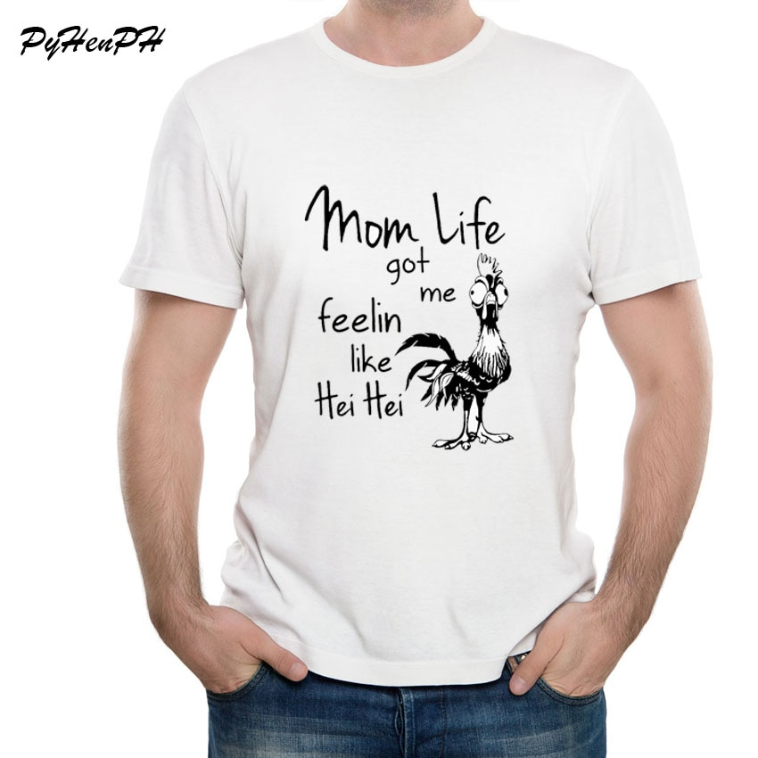 Camiseta para hombre 2018, nuevas y divertidas camisetas para mamá, La vida Me recibió, Hei como camiseta, camiseta para hombre, camiseta de gallo