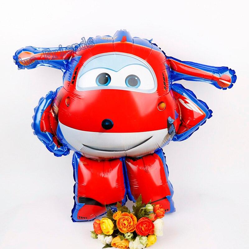 3D superalas globos de aluminio helio Jett 30 Uds decoraciones para fiesta de cumpleaños niños juguetes globos al por mayor