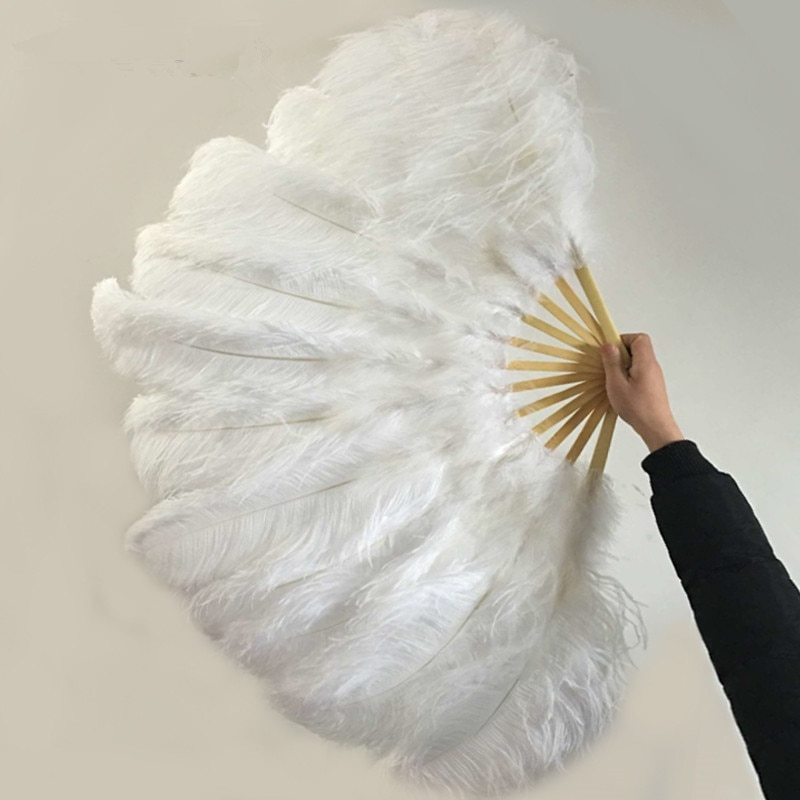 12 shares high quality oversized ostrich feather fan dancing from Halloween decoration jewelery