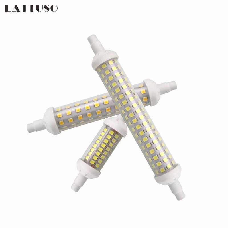 LATTUSO R7S lámpara LED 6W 9W 12W SMD 2835 78mm 118mm 135mm R7S bombilla LED AC220V ahorro de energía reemplazar la luz halógena