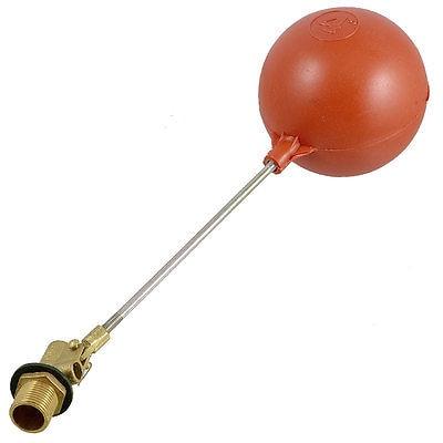 مستشعر مستوى الماء السائل ، كرة بلاستيكية عائمة مغناطيسية بخيط 1/2 بوصة PT ، أحمر