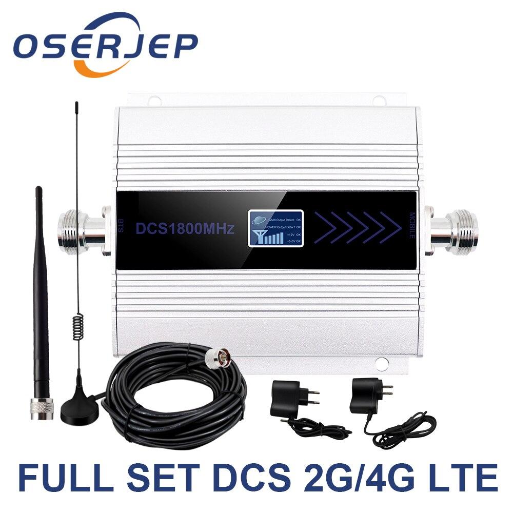 Фото - Ретранслятор мобильного сигнала OSERJEP Kit 4G LTE 1800 МГц сотовый телефон GSM 1800 Сотовый телефон ЖК-дисплей + присоска антенна сотовый телефон
