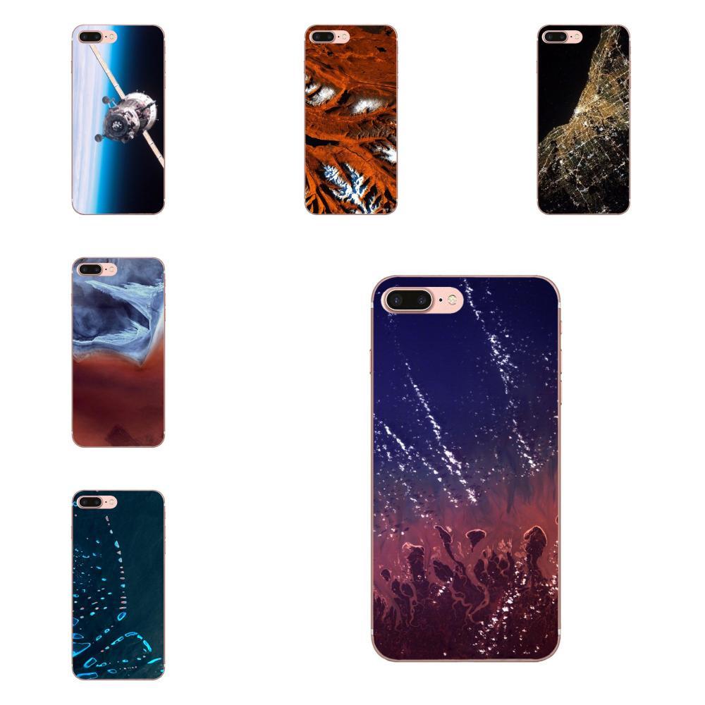 Para Apple iPhone 4 4S 5 5C 5S SE 6 6 S 7 8 Plus X XS X Max XR suave funda de moda Hermosa Gran paisaje satelital