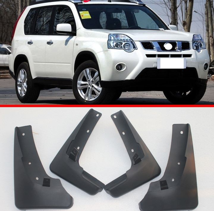 Set guardabarros de coche moldeado para Nissan x-trail T31 2008 2009 2010 2011 2012 2013 Xtrail guardabarros