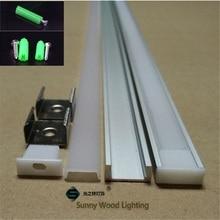 40 m/partij 20 pcs van 2 m 80 inch/pc W16H6mm aluminium profiel voor led strip, led kanaal voor 8-11mm strip, led bar licht spoor