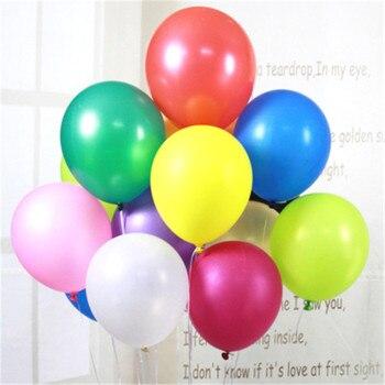 50 Uds. Globos de aire de 12 pulgadas rosa roja 2,5g adornos para fiesta de cumpleaños Festival de bodas Balon suministros para fiestas globos personalizados