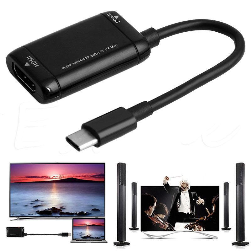 EastVita USB 3,1 tipo C USB-C a HDMI adaptador 1080P Cable convertidor de macho a hembra para MHL Android Teléfono tableta HDMI a USB-C