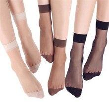 Летние бамбуковые женские короткие носки, 20 шт. = 10 пар, тонкие прозрачные шелковые носки для девушек