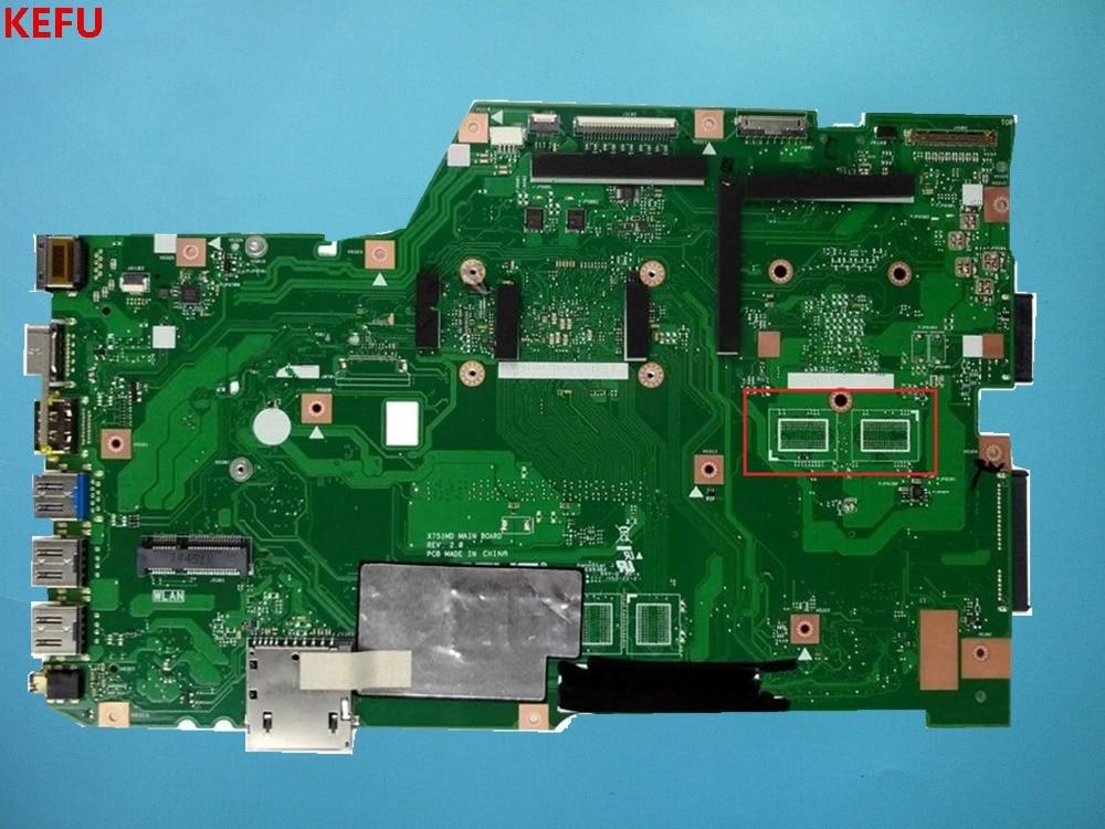 KEFU K751M K751MA X752M R752MA X751MA Motherboard Para Asus REV2.0 Mainboard Testado ok