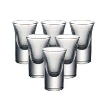 YARDHOUSE 0.8ounce set of 6CS shot glass machine made lead free crystal wedding liqueur glasses liquor glass