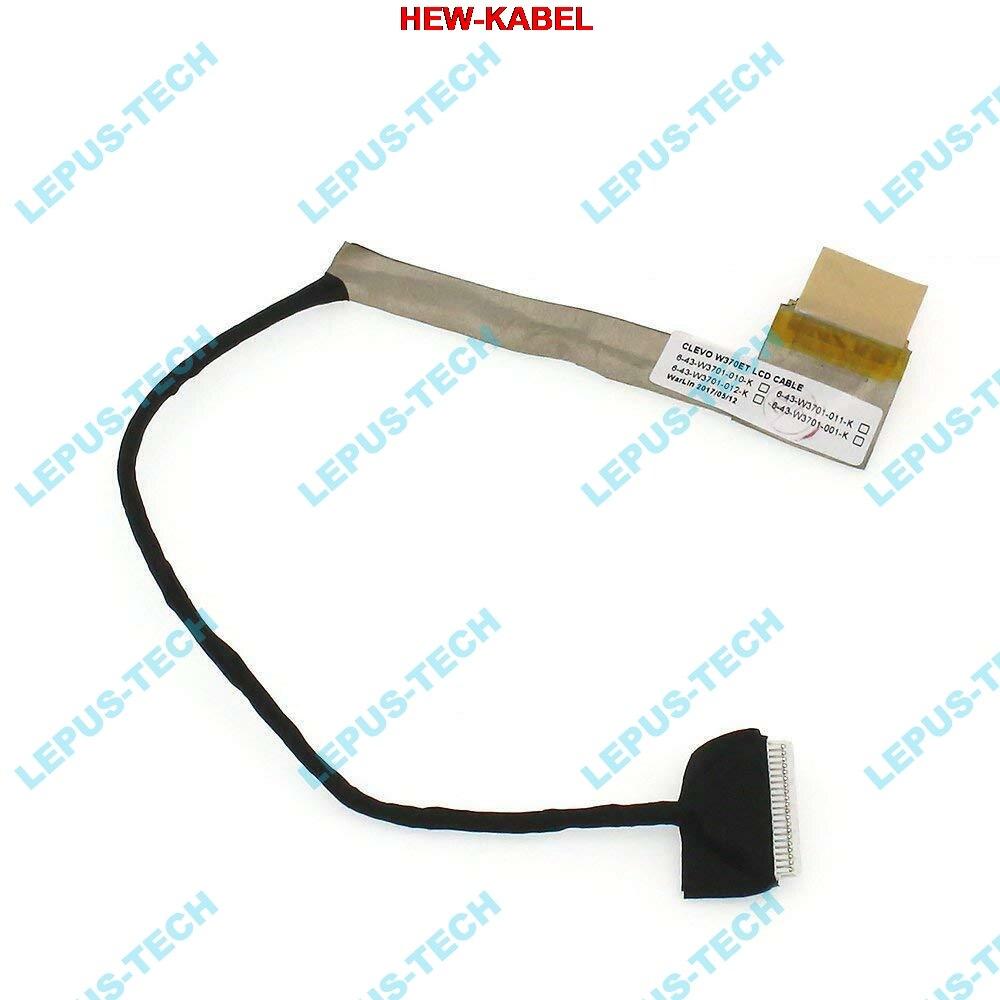 Novo cabo lcd para clevo w370et w370 k750s k760e led 6-43-w3701-011-k lvds cabo de vídeo flex