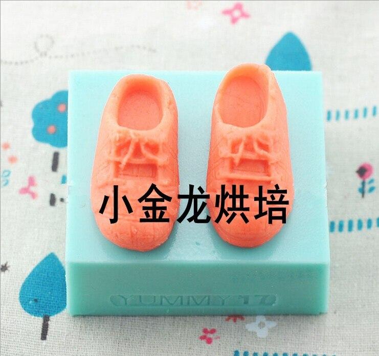 1 PC/LOT moule dargile gâteau cuisson moule liquide gel de silice moule gâteau style outils bébé chaussures