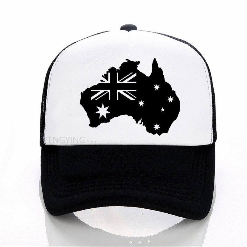 football Adult/ Children Australia Football Trucker Cap AUSTRALIA Flag Men Snapbacks Women Sun Hat Adjust Kids