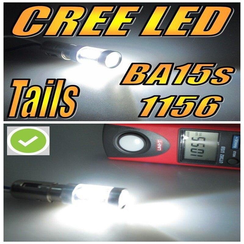 On Sale!!!4 AMPOULES 16 LED CREE Chips Ledc80W BA15S P21W R10W BLANCHE CANBUS ODB FEUX JOUR DIURNE