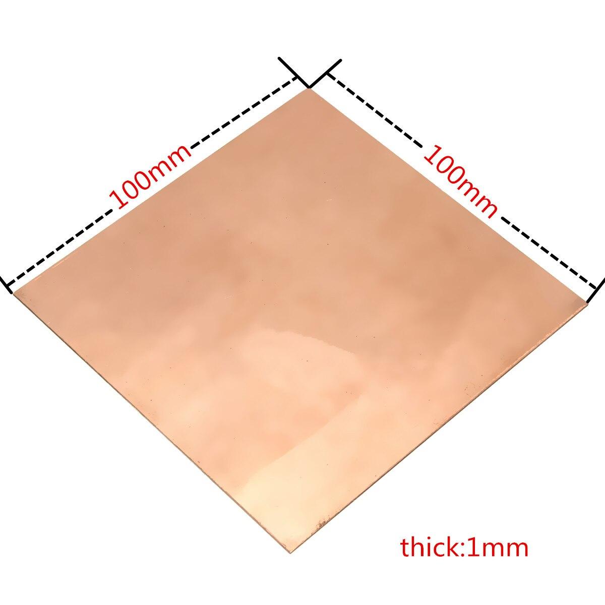 Абсолютно новая 99.9% Чистая Медь Cu металлическая гильотинная листовая пластина 1 мм * 100 мм * 100 мм безопасная оптовая цена