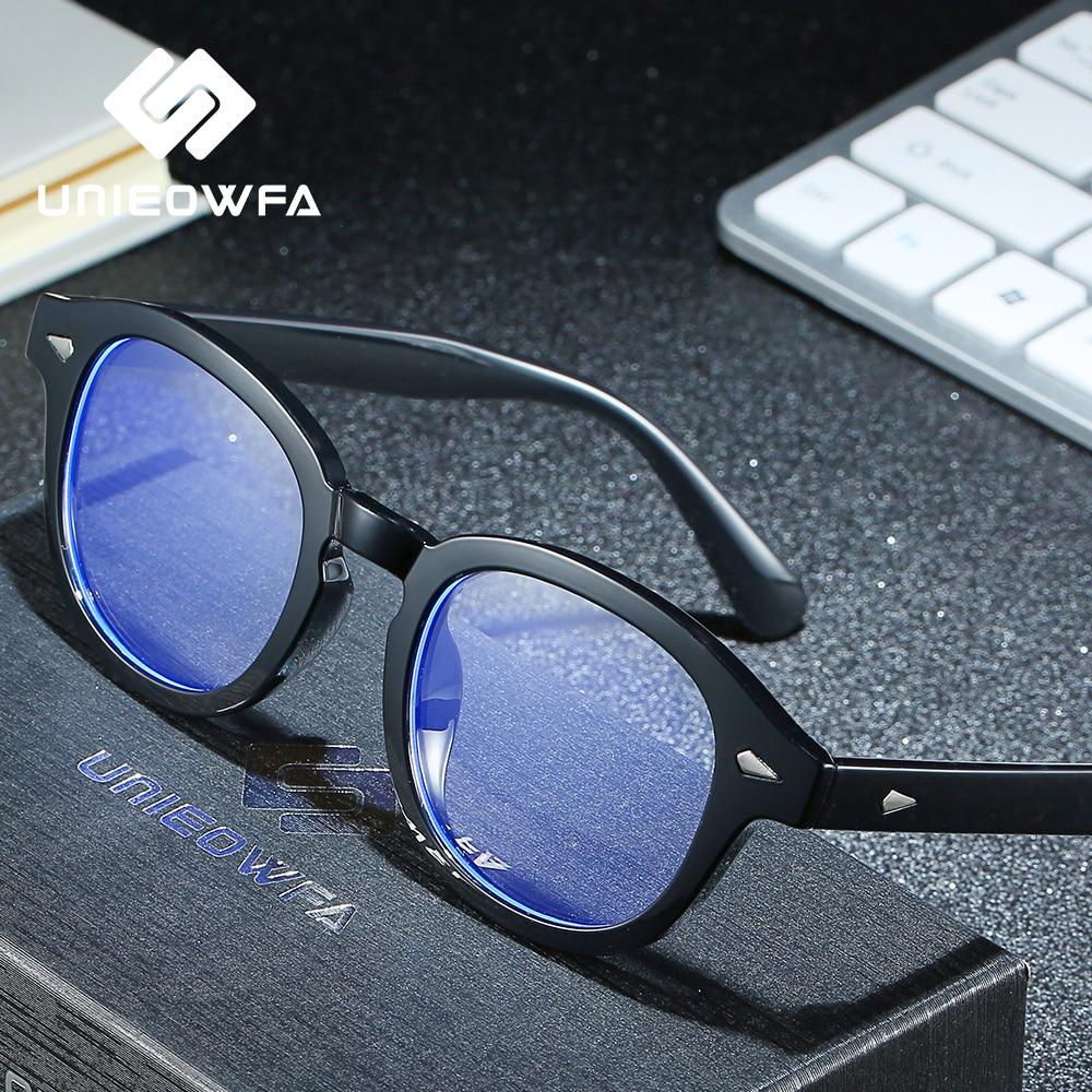 Retro Oval Anti Blue Light Blocking Glasses for Men Women Computer Protection Eye Glasses Radiation Gaming Eyeglasses Blue Ray