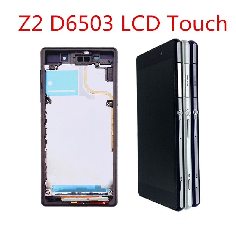 L50W For SONY Xperia Z2 D6502 D6503 D6543 LCD Display with frame Touch Screen Digitizer Assembly For SONY Xperia Z2  LCD недорого